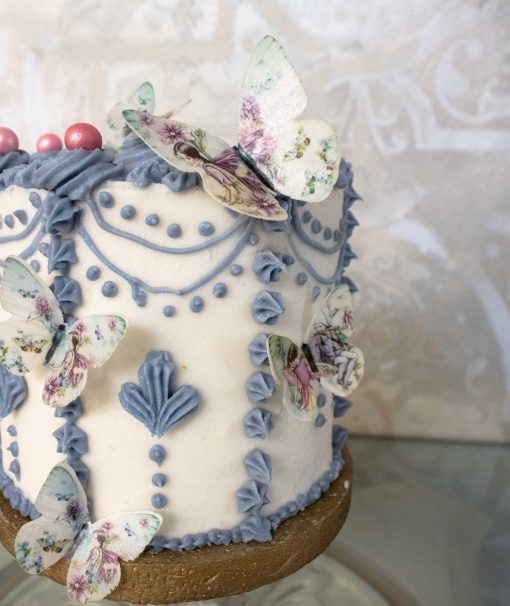 Close-up-Vintage-Rose-Butterfly-Cake-scaled